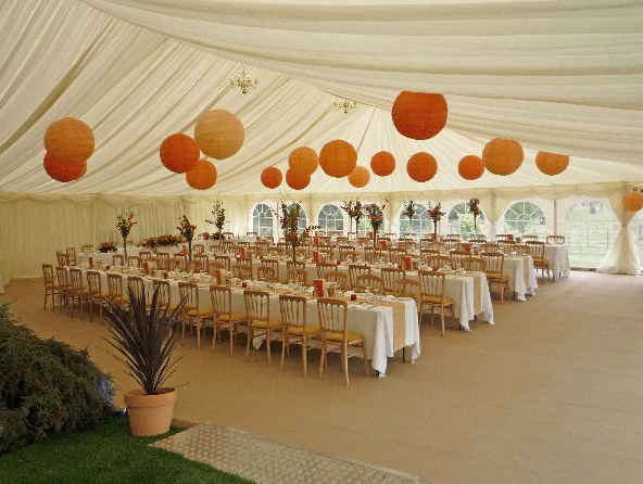 marquee wall lining and swags